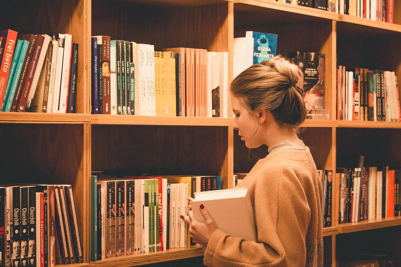 girl choosing a book