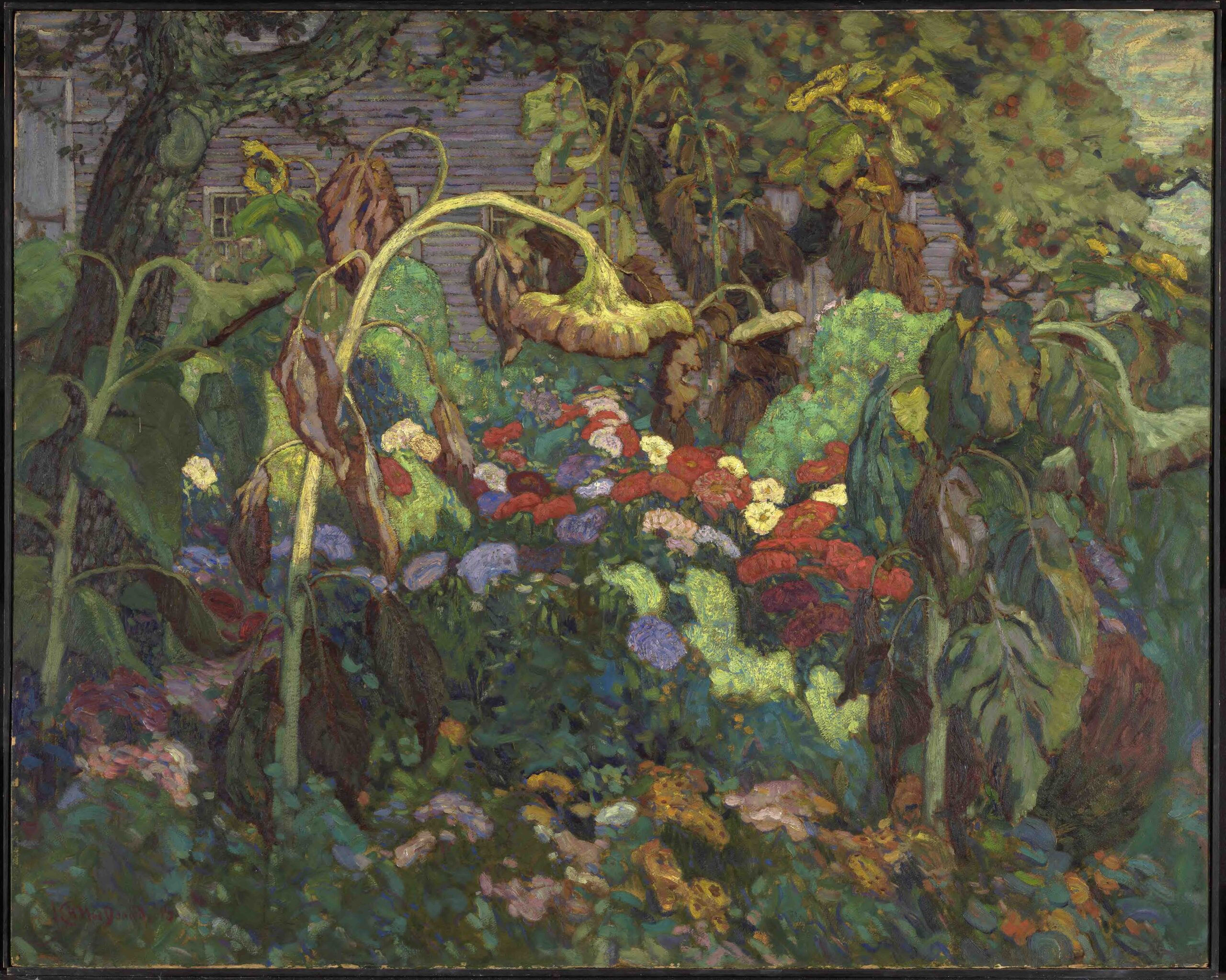 J.E.H. MacDonald's painting, The Tangled Garden, 1916