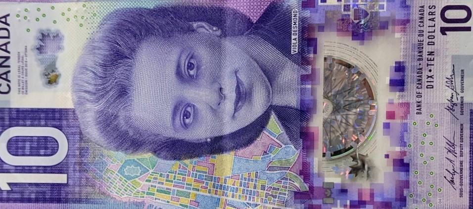 Canadian ten dollar bill