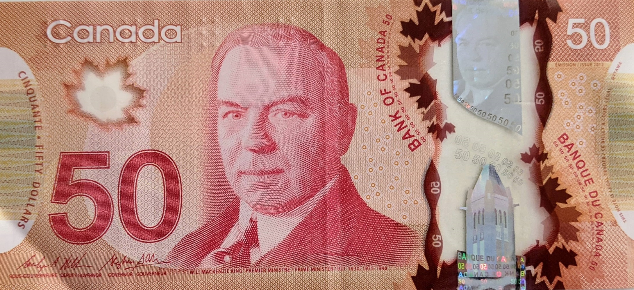 Canadian fifty dollar bill