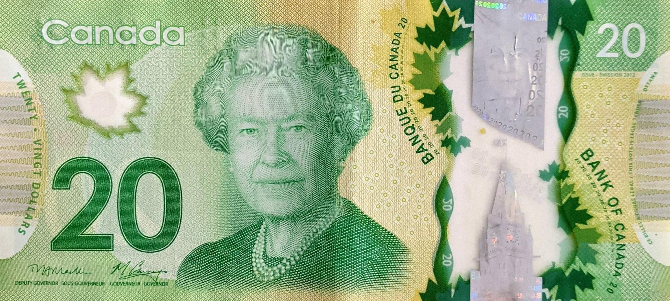 Canadian twenty dollar bill