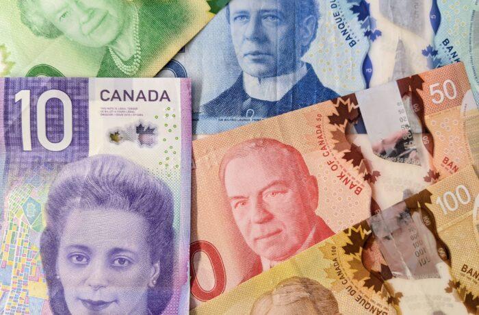 Five Canadian dollars