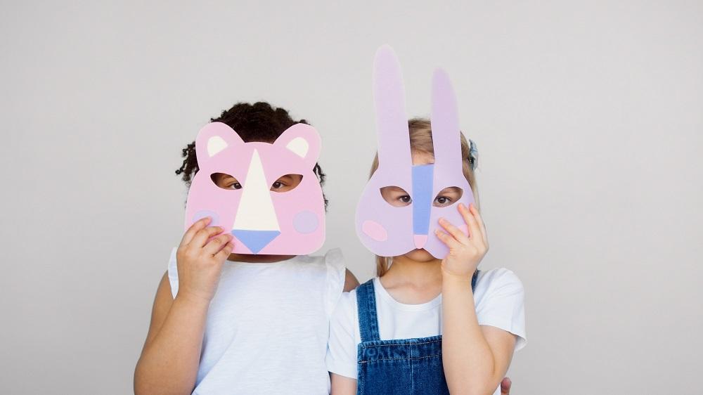 kids in animal masks